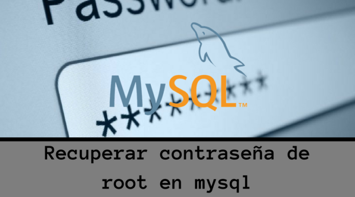 Contraseña de root en mysql