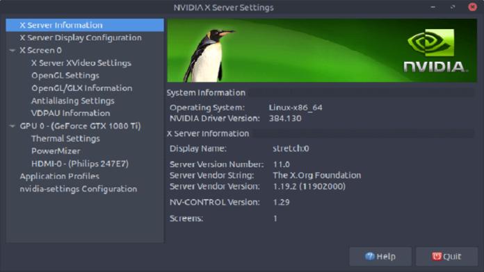Nvidia en Debian 9