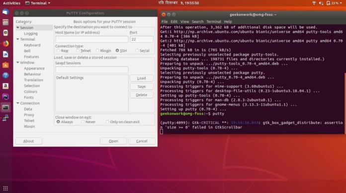 putty ubuntu
